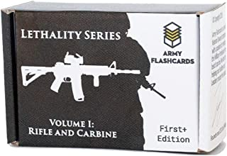 Army Flashcards - Advanced Marksmanship Instructional Flashcards | Combat Lethality Series | 100 of The Most Important Concepts for Shooting The Rifle and Carbine | TC 3-22.9 | Made in USA