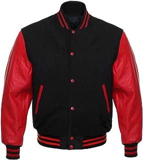 Letterman Baseball Varsity Jacket Genuine Leather Sleeves and Wool