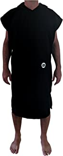BESTA Surf Poncho, Wetsuit Changing Robe/Towel with Hood and Front Pocket. Thick Microfiber Material