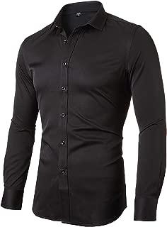 FLY HAWK Mens Dress Shirts, Bamboo Button Down Casual Slim Long Sleeve Work Shirt for Men …