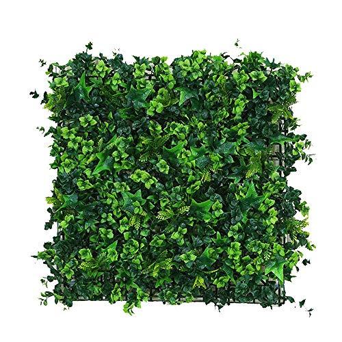 WXQIANG Paneles Artificial setos, Hierba de imitación de Pared, Arbustos Arbustos telón de Fondo, Cerca del jardín de privacidad de decoración, 1pcs 19.6'x19.6 (Color : 02)