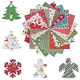 20 Stück Baumwollstoff Weihnachten Stoffpakete Patchwork