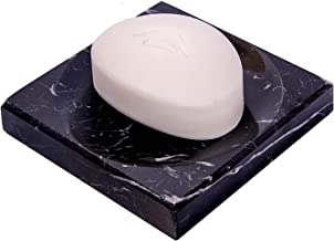 GMRS Marble Soap Dish/Soap Tray - Beautifully Crafted Bathroom Accessory (Black)