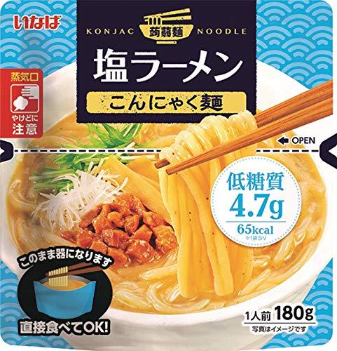 いなば食品 塩ラーメン こんにゃく麺 180g ×6個