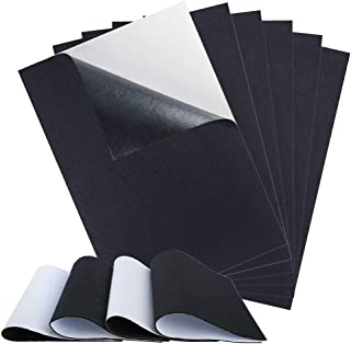 """Sntieecr 10 Pieces Black Self Adhesive Back Felt Sheets Fabric Sticky Back Sheets, A4 Size 8.3"""" x 11.8"""" (21cm x 30cm) for Art and Craft Making"""