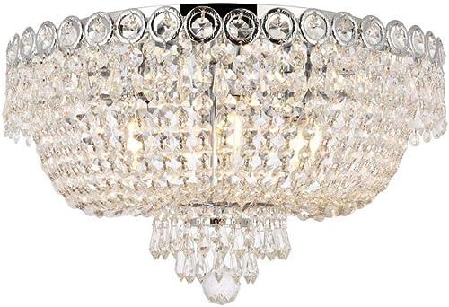 high quality Elegant Lighting popular V1900F18C/RC Century - Six Light Flush Mount, Crystal high quality Style Options: Clear Royal Cut outlet sale