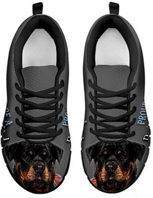 Brand Amazing rödtweiler Dog Dog Dog Print herrar Casual skor (9.5, svart)  topp varumärke