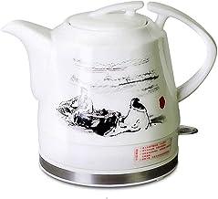 Elektrische Keramische Draadloze Witte Waterkoker Theepot-retro 1.2l Kan 1200w Water Snel Voor Thee Koffie Soep Havermout-...
