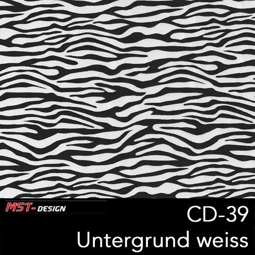 MST-Design Wassertransferdruck Folie I Starter Set Klein I WTD Folie + Dippdivator/Aktivator + Zubehör I 4 Meter mit 50 cm Breite I Zebra Tier Schwarz I CD-39