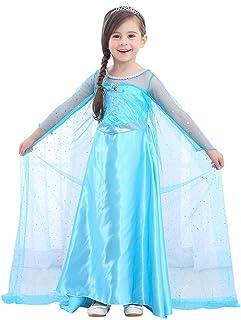 URAQT Disfraz de Princesa Frozen Elsa, Traje de Princesa de