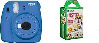 FujifilmInstax mini 9 Instant Film Camera, Cobalt BlueWith 2 Packs of Fujifilm Mini Film 10 X 2