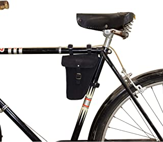 Hide & Drink, Leather Frame Bag for Bicycle/Triangular/Bike/Tool Pouch/Accessories/Biker Essentials, Handmade Includes 101 Year Warranty :: Gato Negro