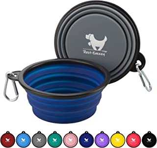 Jasnyfall orange 380ML Portable Travel Dog Bowl Lightweight Collapsible Pet Dog Cat Bowl Travel Bowl Water Feeder Bowl