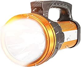 XYIDAI Searchlight,Emergency Light Handheld Spotlight Flashlight USB Rechargeable High Lumens Spot Lights Hand Held Outdoo...