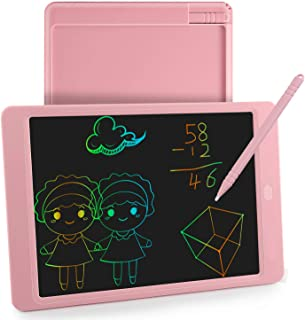 LCD Writing Tablet ,Doodle Drawing Board 10 Inch with Stylus & Colorful Screen Pad Gift for Kids and Adults at Home School Office(Pink)