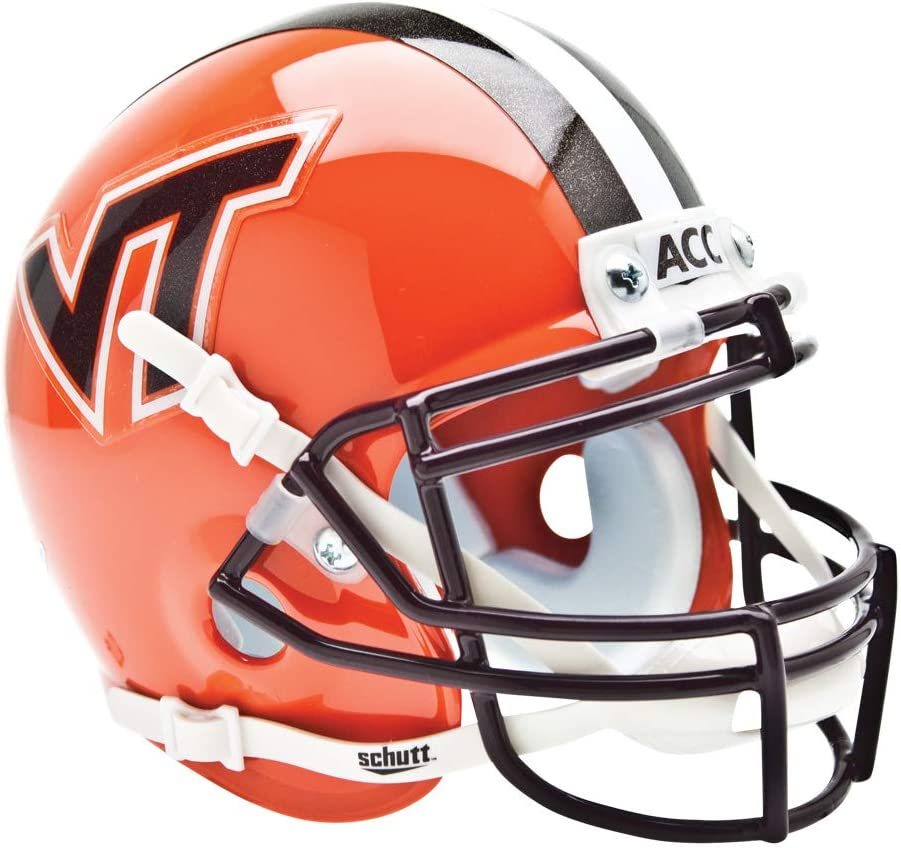 Schutt NCAA Virginia Tech Hokies Mini Authentic XP Football Helmet
