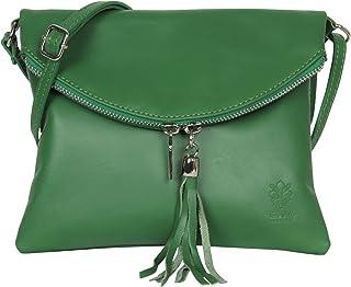 AmbraModa Borsa a tracolla donna Piccola borsa italiana realizzata in morbida vera pella SAUVAGE NL610