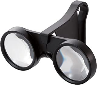 エレコム 3D VR ゴーグル グラス 極小タイプ 折りたたみ可 ブラック P-VRG06BK