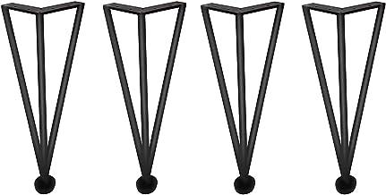 ZTMN 4 stuks tafelpoten, meubelvoeten, haarspeldpoten roestvrij staal, gebruikt voor bedden, banken, kasten, badkamers, wa...