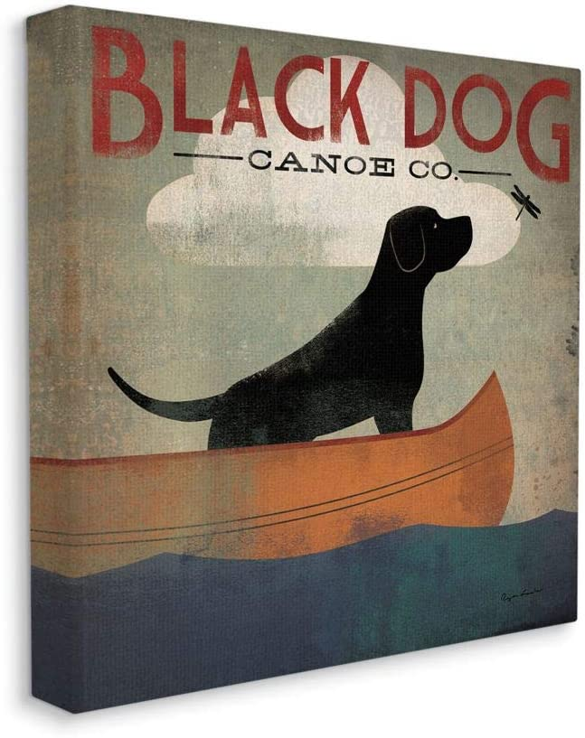 Stupell Industries Black SEAL limited product Dog Ranking TOP14 Canoe Pet Lake Spor Company Boating
