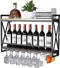 Metal Wine Racks Wall Holder | Vintage Wine Bottle Holder Wall Mounted | Wall Shelf Storage Display Shelves for Living Roo...