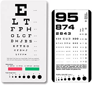 EFK-II Supply Rosenbaum and Snellen Plastic Pocket Size Eye Chart Set - Set of 2
