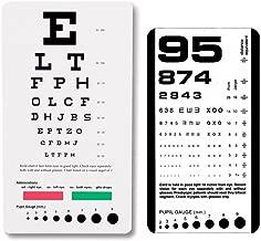EFK-II Supply Rosenbaum and Snellen Plastic Pocket Size Eye Chart Set - Set of 2
