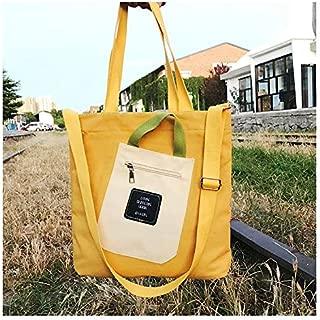 Fashion Single-Shoulder Bags Leisure Fashion Canvas Slant Shoulder Bag Handbag (Black) (Color : Yellow)