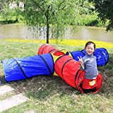 papasbox Gift for Toddler Boys & Girls, Ball Pit, Play Tent and Tunnels for Kids, Best Birthday Gift for Pop Up Baby Play Toy