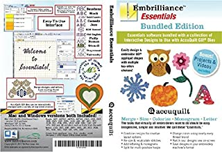 Embrilliance Essentials + Accuquilt Go! Collection 1 Bundle Embroidery Software for MAC & PC
