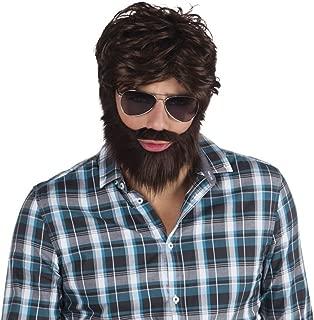 Brown Hangover Wig & Beard