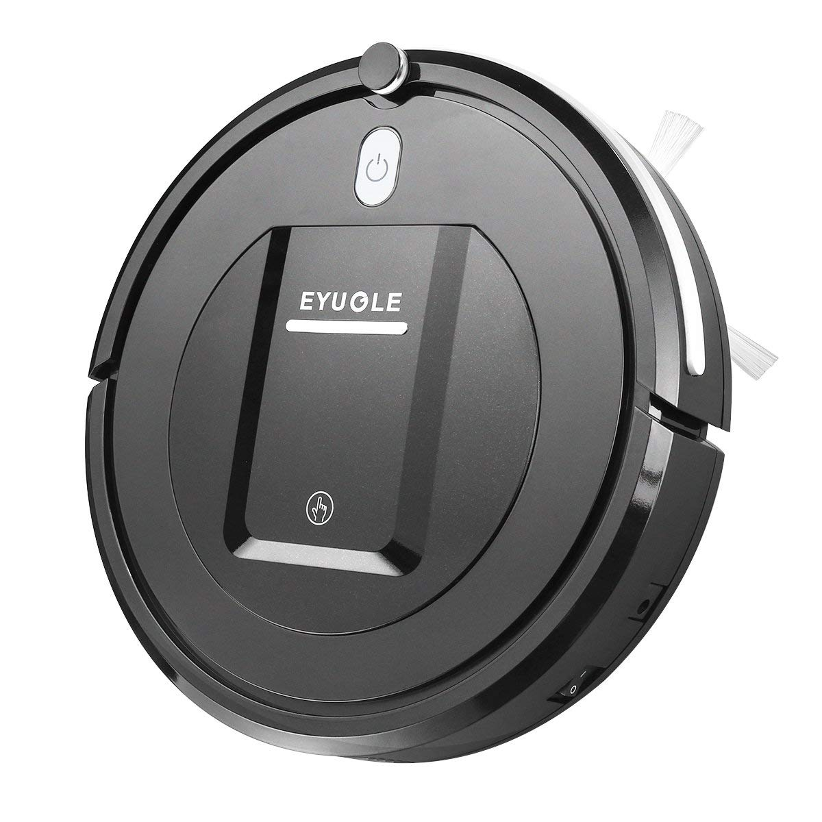 Eyugle KK290A Robot aspirador de limpieza patentado aspiradora de suciedad 500pa 3 fases sin pelos polvo y mascotas Vacuum Cleaner limpio silencioso y autoajustable sensor proyecta (negro): Amazon.es: Hogar
