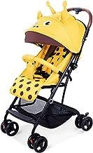 AILI Sillas de Paseo El Cochecito liviano se Puede sentar en un Carro portátil recién Nacido reclinado Plegable Bebé Carritos Sillas de Paseo (Color : Yellow, tamaño : 40 * 24 * 20 Inches)