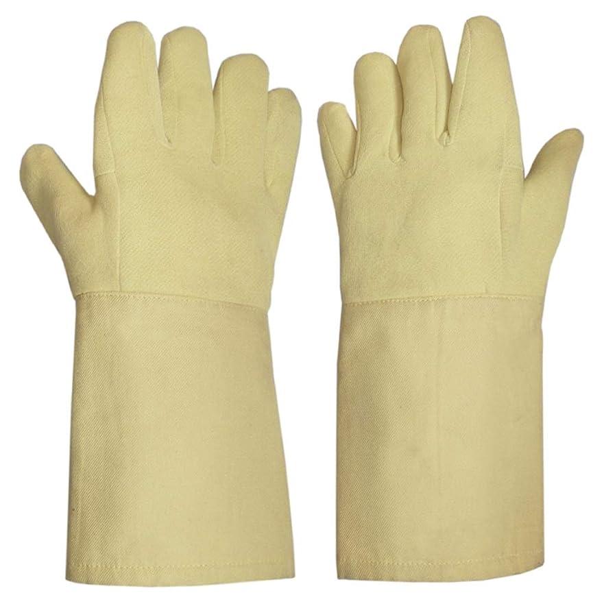 担保見かけ上爪LIUXIN カットプルーフ高温耐性手袋労働保護手袋切断保護手袋絶縁防滑性滑り止め14.5 * 38センチ ゴム手袋