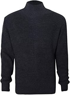 eipogp Men's High Neck Sweaters Solid Long Sleeve Pullover Ribbed Knit Jumper Winter Thermal Blouse Tops