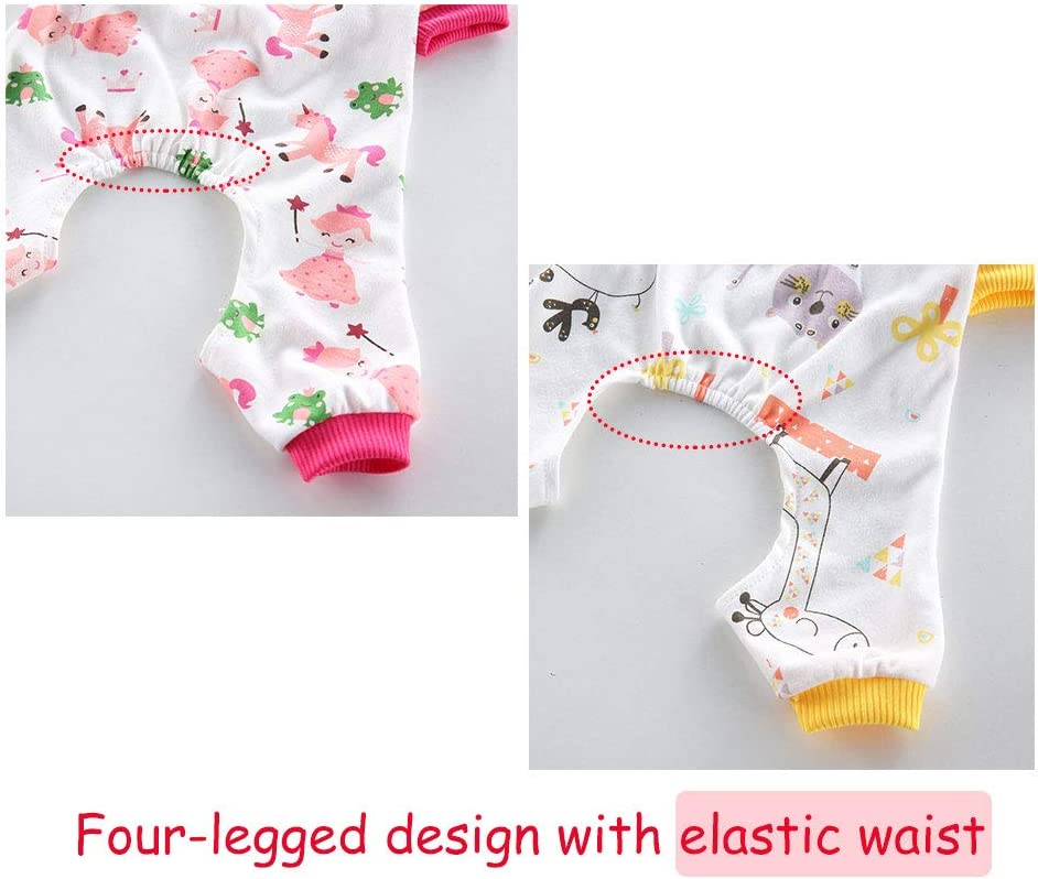 Cat+Horse Oncpcare 2 Pack Dog Pajamas Cozy Adorable Shirt Pet Clothes Jumpsuit Pjs Sleepwear for dogs puppy cats Soft Cotton Dog Nightclothes