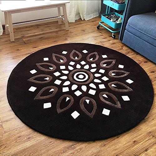 YUN HAI Lotus Tapis Circulaire Salon Table Basse Couverture Chambre Chevet Tapis Chaise d'ordinateur Couverture 160cm (Taille : 130cm)