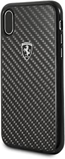 CG Mobile Ferrari iPhone X & iPhone Xs Case - by CG Mobile - Black Cell Phone Carbon Fiber   Easily Accessible Ports   Off...