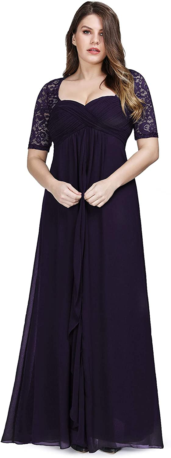 Ever-Pretty Max 44% OFF Women's Plus Size Elegant Sleeves Lace Half E Ranking TOP12 Formal