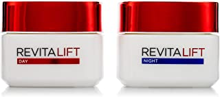 L'Oreal Paris Revitalift Moisturizing Day Cream + Night Cream with Pro-retinol & Fibrelastyl - Anti-Wrinkle + Enhanced Ela...