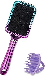 Oleh-Oleh Paddle Brush, Detangle Hair Brush Pro for Wet and Dry Hair + Shampoo Brush, Scalp Massager