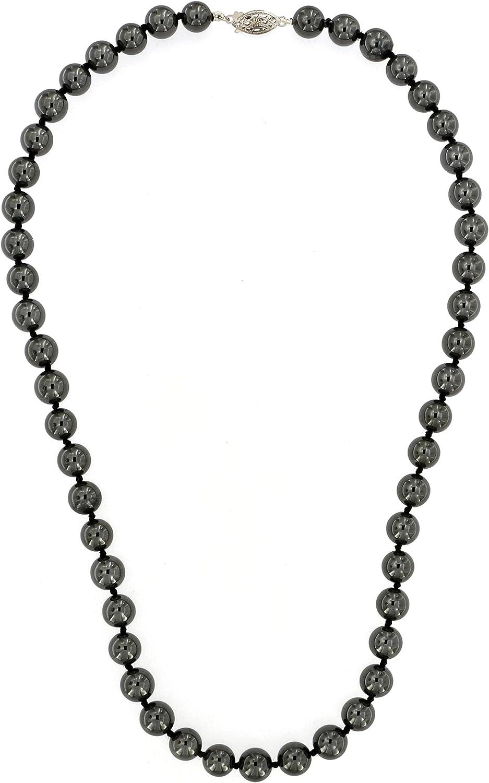 ISAAC WESTMAN 8MM High material Genuine Hematite Strand Neckla shop Beaded Gemstone