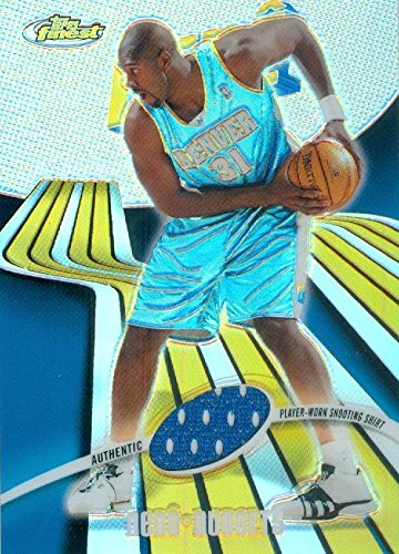 Autograph Warehouse 466605 Nene Hilario Player Denver Nuggets Worn Jersey Patch Basketball Card 2004 Topps Finest Refractor No. 110 LE 203-250