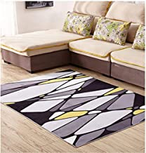 Modern Casual 120 X 160 Round cm Area Rug Easy to Clean Stain/Fade Resistant Shed Free Abstract Contemporary Colour Block ...