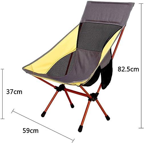 CBWZDJZDS Chaise De Lune avec des Oreillers, Chaise Se Pliante Extérieure, Chaise De Camping en Aluminium Portative Ultra Légère
