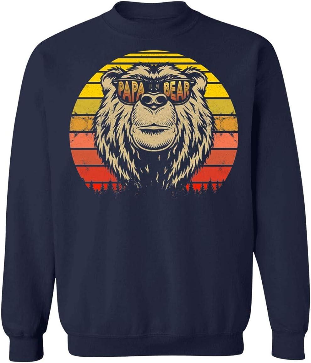 感謝価格 Proud Best Papa Bear Vintage Funny Sweatshirt Hoodie Dadd - OUTLET SALE