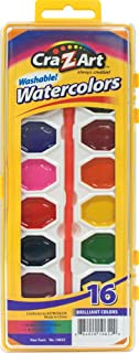 Cra-Z-art Washable Watercolors with Brush 16 Count (10652)