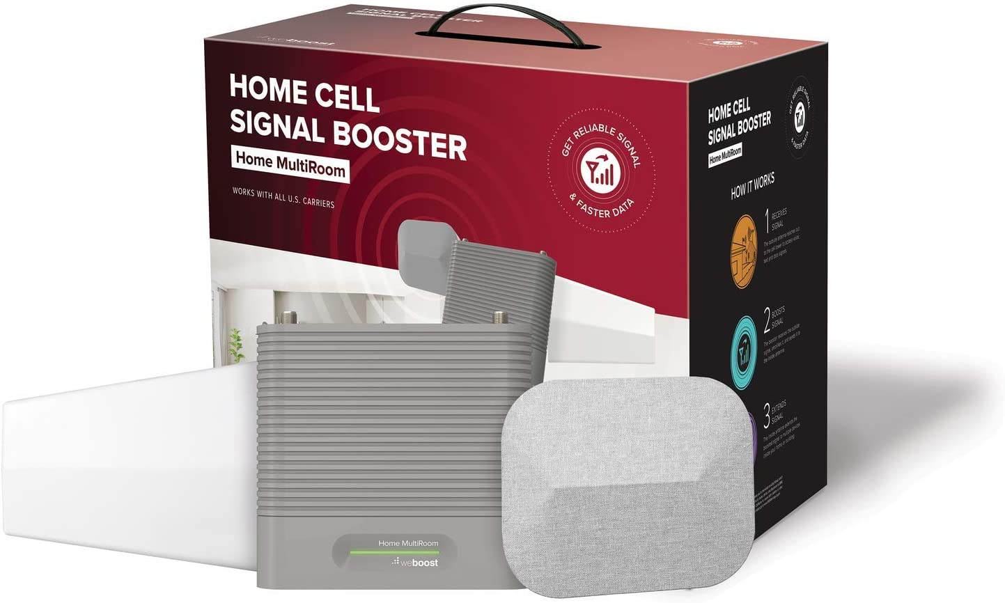 Cell Phone Signal Booster weBoost Home MultiRoom 470144 Cell Signal Booster Kit /& Wilson Electronics Pole Mount for Outside Home Antenna