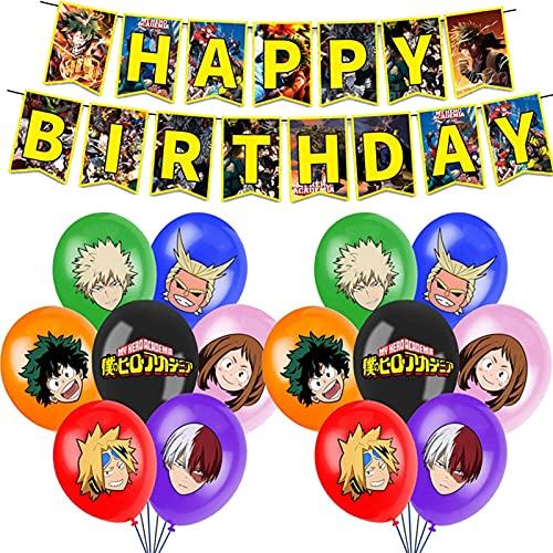 JSJJATQ Globos 1set Anime Feliz Cumpleaños Bandera Bandera Baby Shower Party Decorations Child'S Boys Toys (Color : 1)