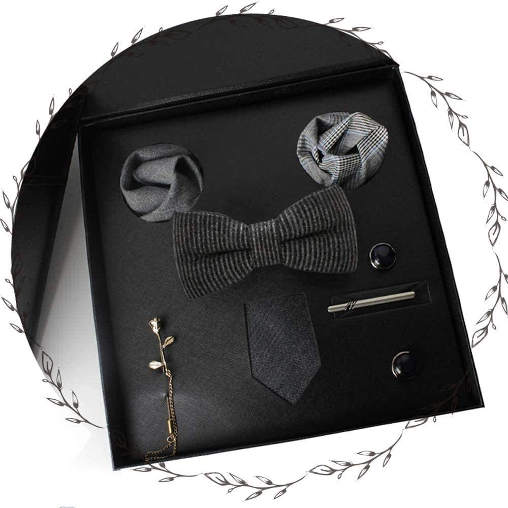 WYKDL Classic Men's Silk Tie Set Necktie & Pocket Square Ties Neck Tie Suit Men Accessories Tie Sets Gifts for Men Fashion for Formal Wedding Business Party